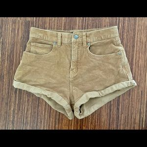 Afends high waisted corduroy shorts size 4 VGUC